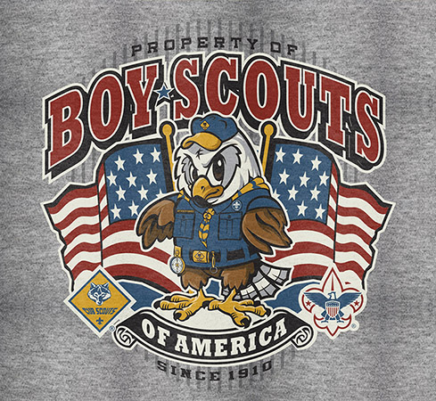 Cub Scouts Eagle Flag design by Greg Dampier - Illustrator & Graphic Artist of Portland, Oregon