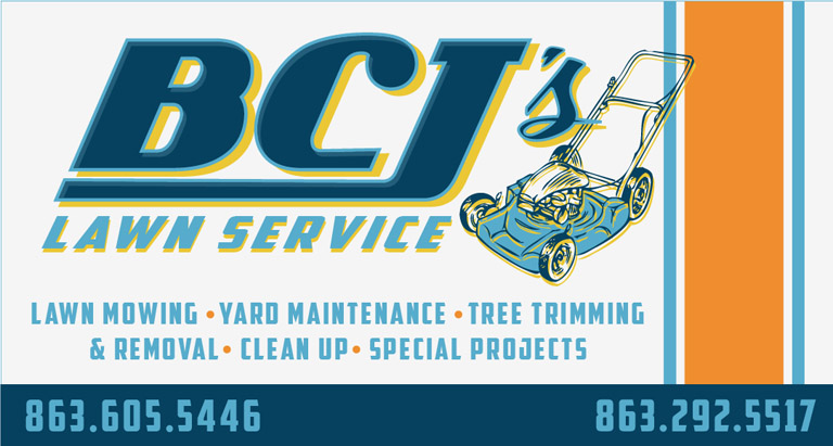 BCJ logo and card by Greg Dampier - Illustrator & Graphic Artist of Lake Wales, Florida