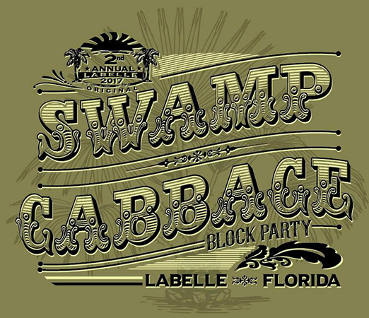 Swamp Cabbage Block Party by Greg Dampier - Illustrator & Graphic Artist of Portland, Oregon