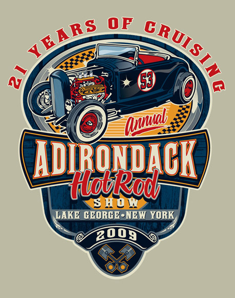 adirondack hot rod b09 by Greg Dampier - Illustrator & Graphic Artist of Portland, Oregon