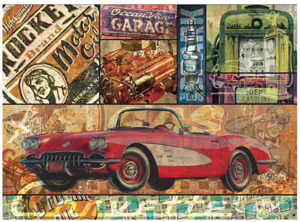 Vette Montage by Greg Dampier - Illustrator & Graphic Artist of Portland, Oregon
