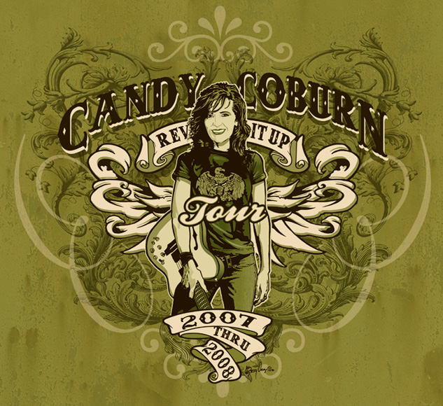 candy coburn concert tee by Greg Dampier - Illustrator & Graphic Artist of Portland, Oregon