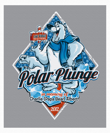 Polar Plunge 2012 by Greg Dampier - Illustrator & Graphic Artist of Portland, Oregon