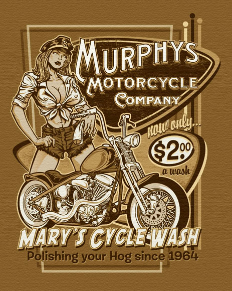 murphys motorcycle co tee by Greg Dampier - Illustrator & Graphic Artist of Portland, Oregon