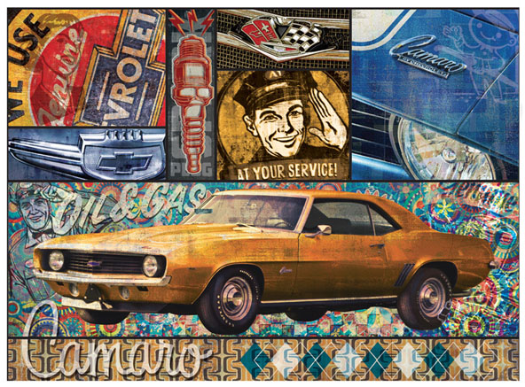 Camaro montage by Greg Dampier - Illustrator & Graphic Artist of Portland, Oregon