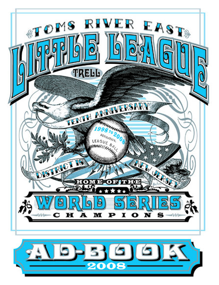 little league ad book by Greg Dampier - Illustrator & Graphic Artist of Lake Wales, Florida