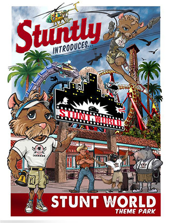 Stunt World Poster by Greg Dampier - Illustrator & Graphic Artist of Lake Wales, Florida