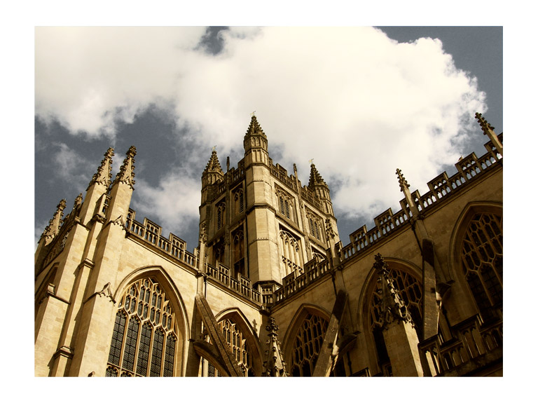 church in bath england, photo by greg dampier by Greg Dampier - Illustrator & Graphic Artist of Portland, Oregon