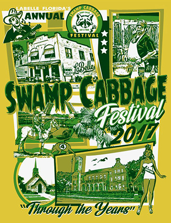 Swamp Cabbage festival design by Greg Dampier - Illustrator & Graphic Artist of Portland, Oregon