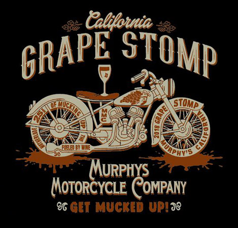 Murphys grape Stomp 4 by Greg Dampier - Illustrator & Graphic Artist of Portland, Oregon
