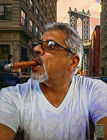 Julio in New York by Greg Dampier - Illustrator & Graphic Artist of Lake Wales, Florida