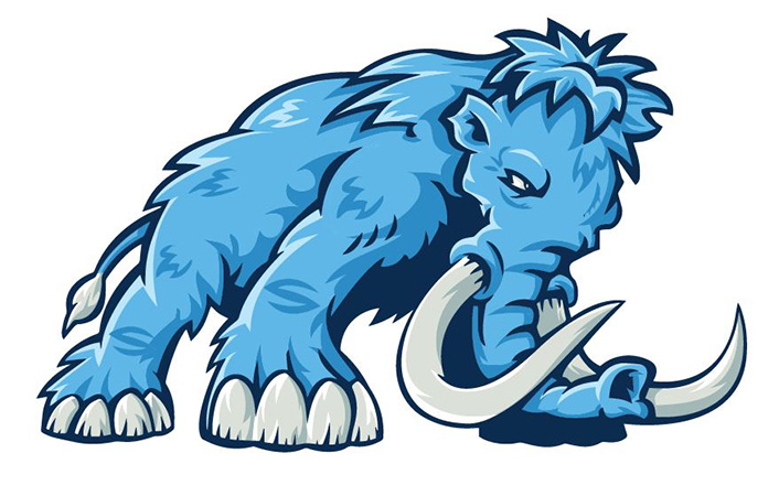 Mammoth Logo 2 by Greg Dampier - Illustrator & Graphic Artist of Portland, Oregon