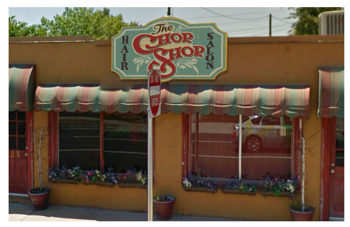 Chop Shop hair salon sign art by Greg Dampier - Illustrator & Graphic Artist of Lake Wales, Florida