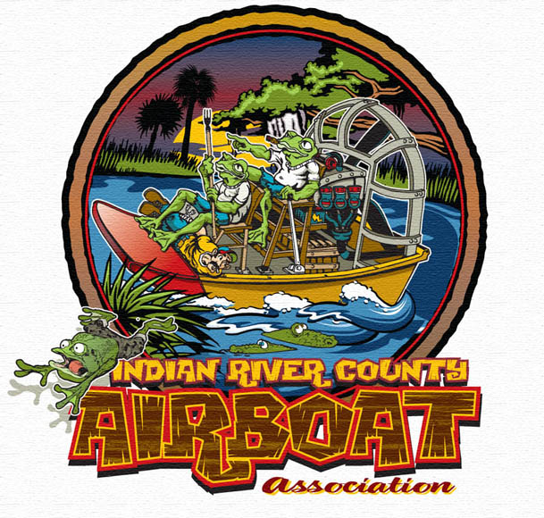 indian river county airboat association by Greg Dampier - Illustrator & Graphic Artist of Portland, Oregon