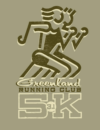 greenland running club by Greg Dampier - Illustrator & Graphic Artist of Lake Wales, Florida