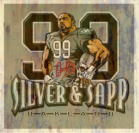 warren sapp by Greg Dampier - Illustrator & Graphic Artist of Portland, Oregon