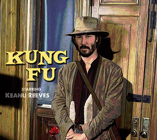 Keanu Reeves in Kung Fu remake full by Greg Dampier - Illustrator & Graphic Artist of Portland, Oregon