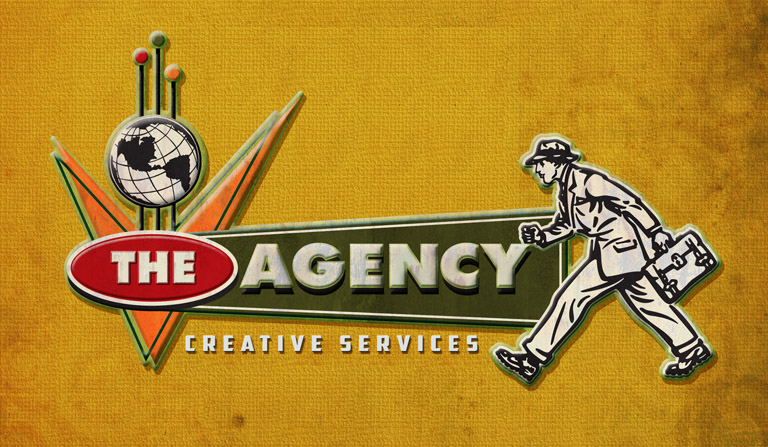 The Agency horizontal logo by Greg Dampier - Illustrator & Graphic Artist of Lake Wales, Florida