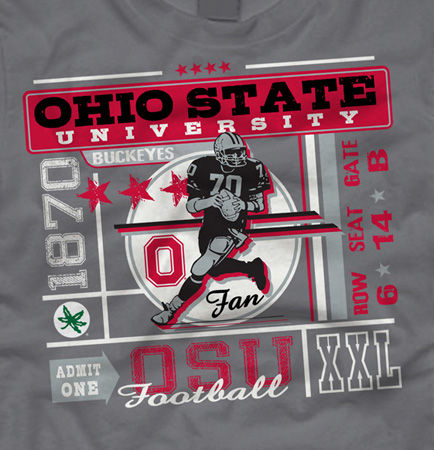 OSU Ticket tee by Greg Dampier - Illustrator & Graphic Artist of Portland, Oregon