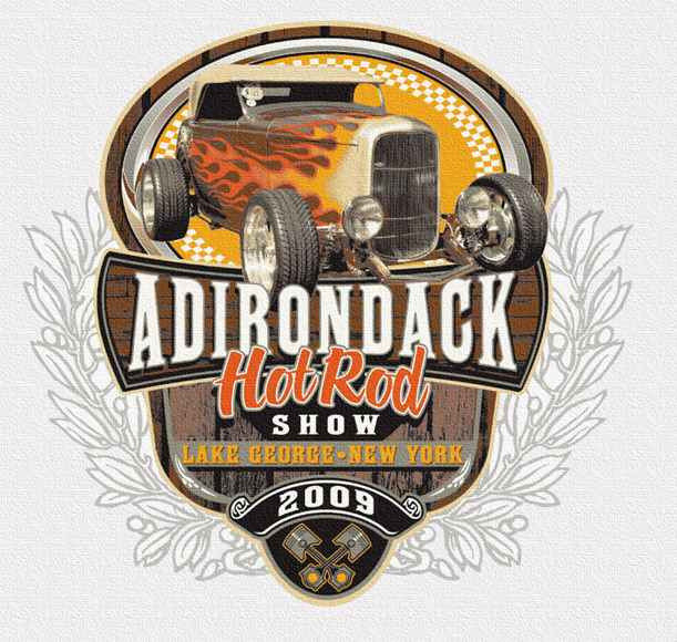 adirondack hot rod show tee by Greg Dampier - Illustrator & Graphic Artist of Portland, Oregon