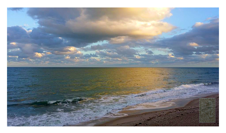 Vero Beach Golden water Photo by Greg Dampier - Illustrator & Graphic Artist of Portland, Oregon