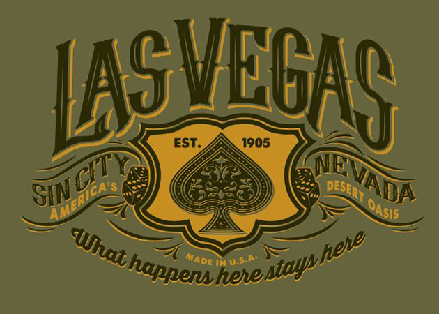 Vintage Las Vegas design by Greg Dampier - Illustrator & Graphic Artist of Portland, Oregon
