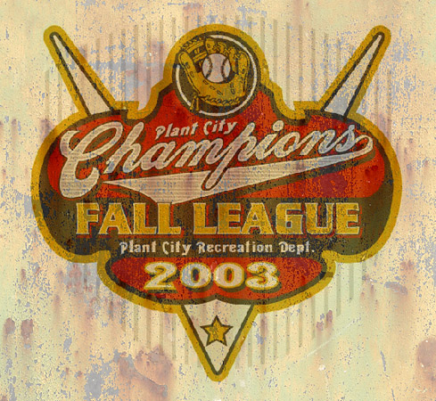 fall league champs by Greg Dampier - Illustrator & Graphic Artist of Portland, Oregon