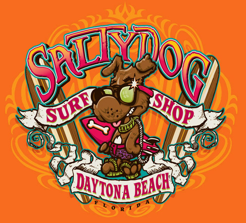 salty dog boards by Greg Dampier - Illustrator & Graphic Artist of Portland, Oregon