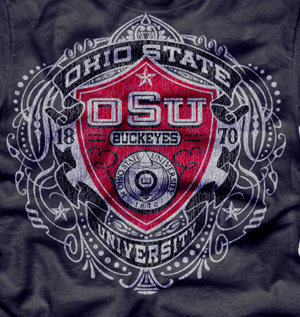 osu shield by Greg Dampier - Illustrator & Graphic Artist of Lake Wales, Florida