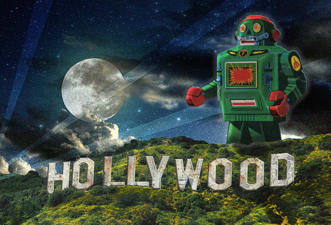 Hollywood Hills Invasion by Greg Dampier - Illustrator & Graphic Artist of Portland, Oregon