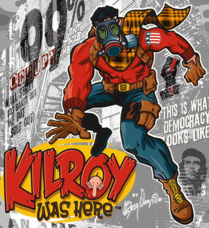 Kilroy Was Here comic book closeup4 by Greg Dampier - Illustrator & Graphic Artist of Lake Wales, Florida