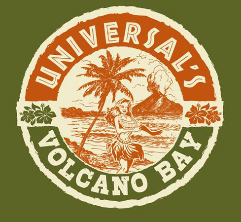 Hula Volcano design by Greg Dampier - Illustrator & Graphic Artist of Portland, Oregon