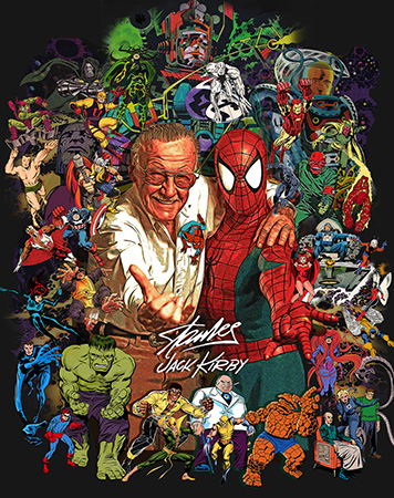 Stan Lee Jack Kirby Tribute poster by Greg Dampier - Illustrator & Graphic Artist of Portland, Oregon