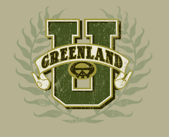 greenland university logo by Greg Dampier - Illustrator & Graphic Artist of Lake Wales, Florida