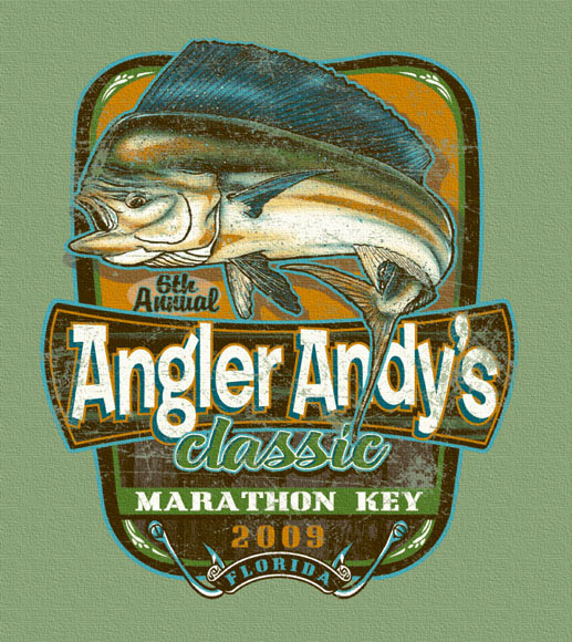 angler andys classic by Greg Dampier - Illustrator & Graphic Artist of Portland, Oregon