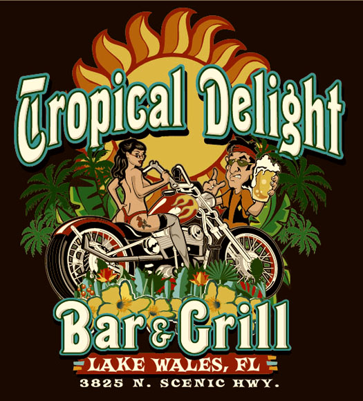 tropical delight tee by Greg Dampier - Illustrator & Graphic Artist of Portland, Oregon