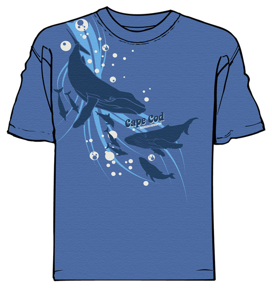 cape cod whale watchers tee by Greg Dampier - Illustrator & Graphic Artist of Portland, Oregon