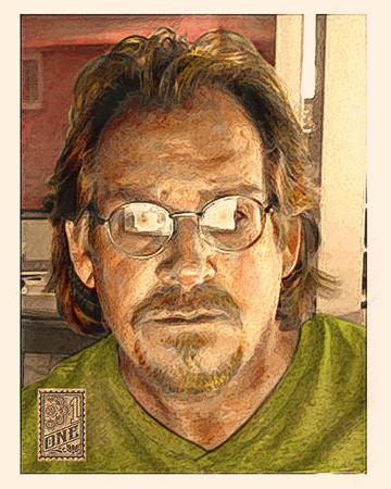 Greg Dampier Self Portrait color by Greg Dampier - Illustrator & Graphic Artist of Lake Wales, Florida