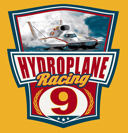 Hydroplane Racing by Greg Dampier - Illustrator & Graphic Artist of Portland, Oregon