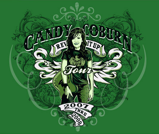 CANDY COBURN by Greg Dampier - Illustrator & Graphic Artist of Portland, Oregon