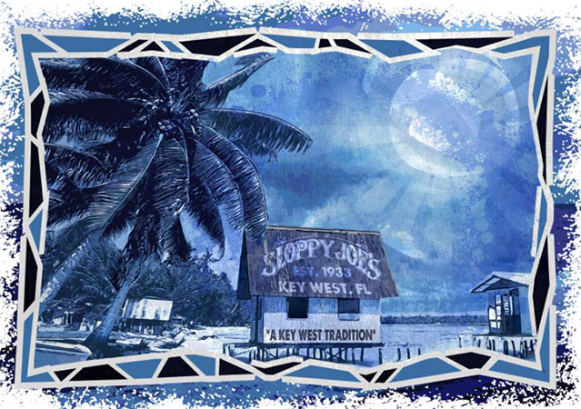 Key West tropical design by Greg Dampier - Illustrator & Graphic Artist of Portland, Oregon