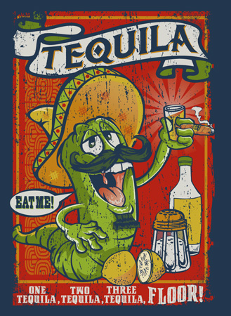 Tequila work by Greg Dampier - Illustrator & Graphic Artist of Portland, Oregon