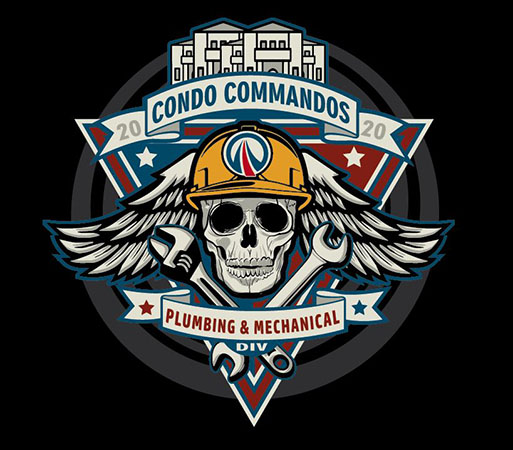 Condo Commandos sticker by Greg Dampier - Illustrator & Graphic Artist of Portland, Oregon
