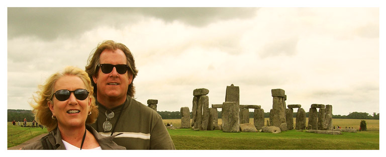 maz and greg at stonehenge by Greg Dampier - Illustrator & Graphic Artist of Lake Wales, Florida