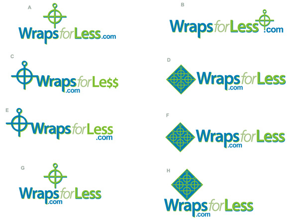 wraps for less logo4 by Greg Dampier - Illustrator & Graphic Artist of Lake Wales, Florida
