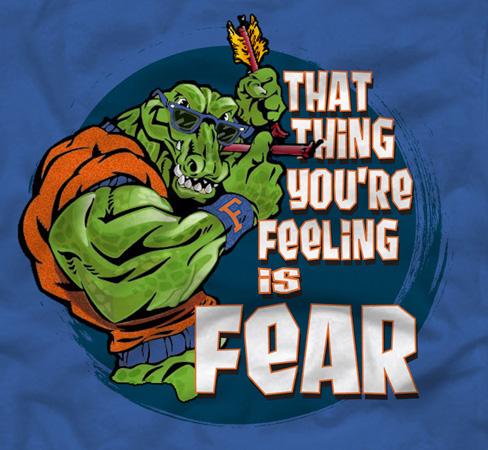 T Shirts Gator Fear By Greg Dampier Illustration