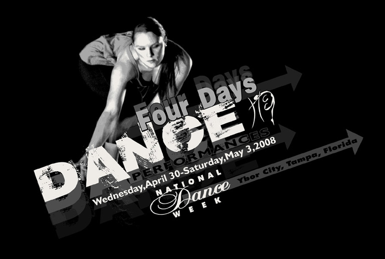 four days of dance tee by Greg Dampier - Illustrator & Graphic Artist of Portland, Oregon