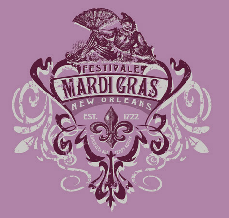 t shirts mardigras mark by greg dampier illustration graphic design commercial art 863