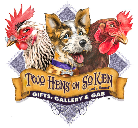Two Hens on SoKen logo by Greg Dampier - Illustrator & Graphic Artist of Lake Wales, Florida