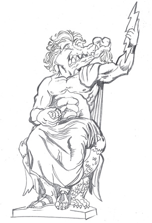 zeus sketch by Greg Dampier - Illustrator & Graphic Artist of Lake Wales, Florida
